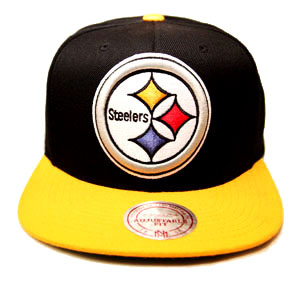 ... cheap mitchell ness nfl pittsburgh steelers snapback hat 2tone color xl  front logo booton e60cd b290c ec80b285e