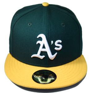 OAKLAND ATHLETICS New Era 59Fifty Fitted Hat with Gray under brim(official  on field) – booton ccc59956714a