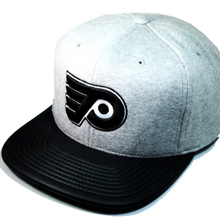 d4d1b849f PHILADEPHIA FLYERS mitchell & ness NHL snapback with classic heather gray  cap & faux leather looking on visor