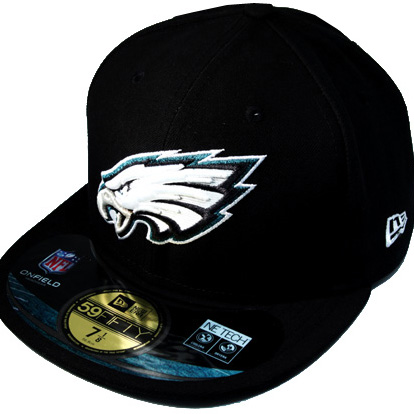 PHILADELPHIA EAGLES 59Fifty New Era NFL Fitted Hat (official on ... 7cc6842a60f