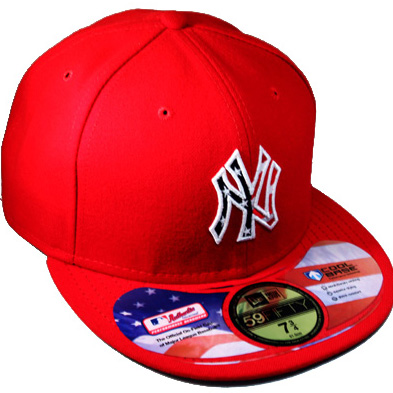 NEWYORK YANKEES New Era 59Fifty red Fitted Hat with US flag front ... c491aa0bc4a