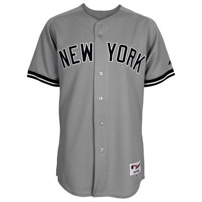 buy online 99d46 b8f80 NEWYORK YANKEES DEREK JETER #2 MAJESTIC AWAY AUTHENTIC GRAY JERSEY