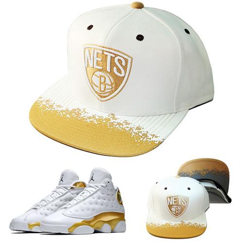 Mitchell   Ness NBA Brooklyn Nets Snapback Hat Air Jordan Retro 13 ... 491fd09b673