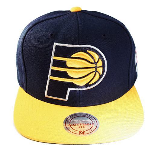 the latest 2448b dbeae Mitchell   Ness NBA Indiana Pacers Snapback Hat XLarge Front Logo Cap –  booton
