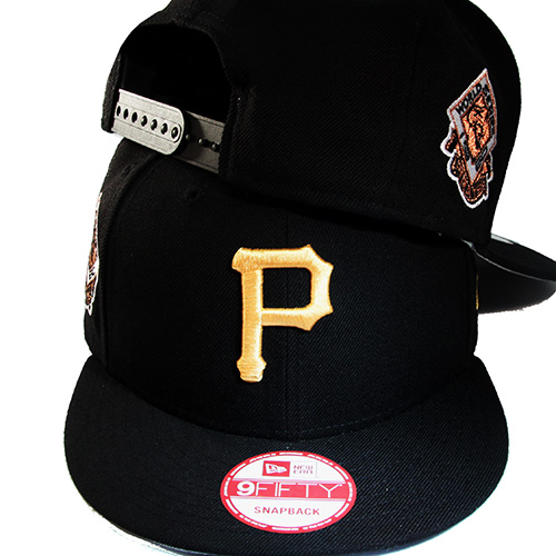 New Era MLB Pittsburgh Pirates Snapback Hat 1960 World Series Side ... e41bc208906