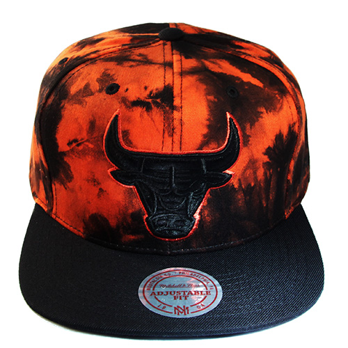 570d71183 Mitchell & Ness NBA Chicago Bulls Tie Dye Snapback Hat Orange Black ...