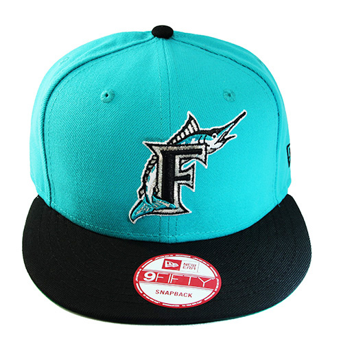 0c69bbd9bf6 New Era MLB Florida Marlins 5950 Classic Fitted Hat Match Nike ...