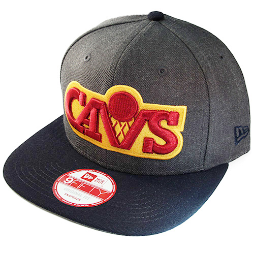 a5c0370f6ed99 New Era NBA Cleveland Cavaliers Snapback Hat with Classic Front Logo ...