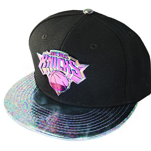 buy online 4d79c a37e8 New Era New York Knicks Snapback Hat Metalic Badge Match Nike ...