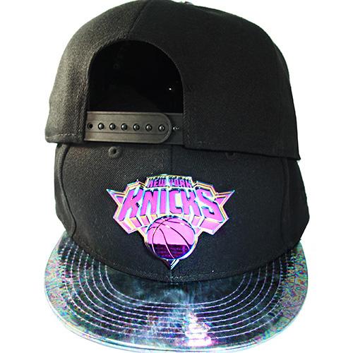 buy online 5e2f2 ae9ea New Era New York Knicks Snapback Hat Metalic Badge Match Nike ...