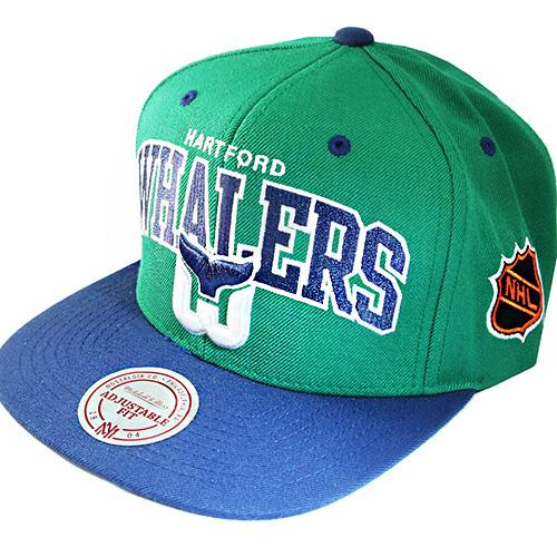 45dcbd229 Mitchell & Ness NHL Hartford Whalers Classic Snapback Hat black Vintage Cap