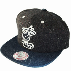 Mitchell /& Ness NBA New Orleans Pelicans Leather Strapback Hat Butter Nylon Cap