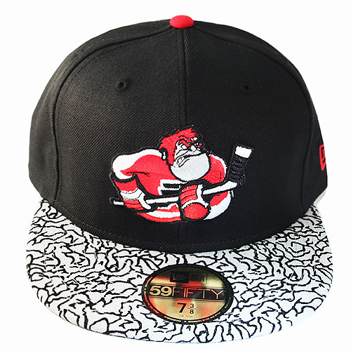New Era NHL Philadelphia Flyers 5950 Fitted Hat Air Jordan 3 Black ... d31224eaa70