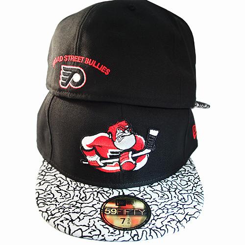 8eee1f03df83 New Era NHL Philadelphia Flyers 5950 Fitted Hat Air Jordan 3 Black ...