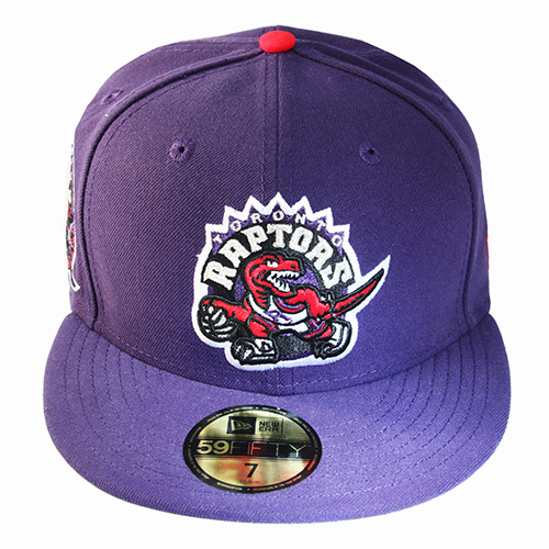 New Era NBA Toronto Raptors 5950 Purple Fitted Hat Side Team Patched ... 682c028e323