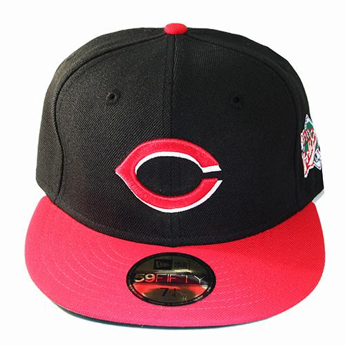 new style 00411 b7fbc New Era MLB Cincinnati Reds 5950 Fitted Hat 1990 World Series Side ...