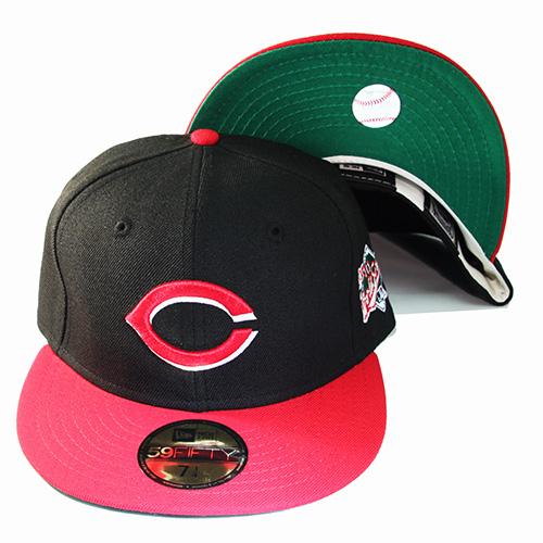 New Era MLB Cincinnati Reds 5950 Fitted Hat 1990 World Series Side ... cd97b7d9bca