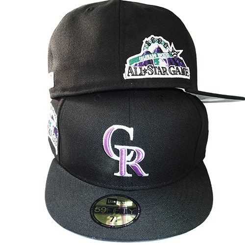 reputable site 23654 b8fef New Era MLB Colorado Rockies 5950 Fitted Hat 1998 All Star Game Side ...