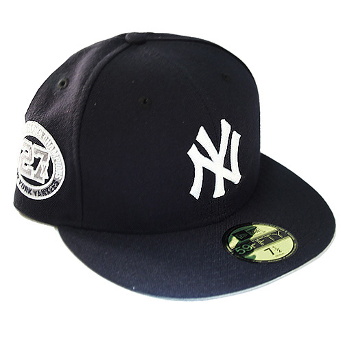 9b64c11e1 New Era New York Yankees 5950 Fitted Hat 27X Champion Patch Grey ...