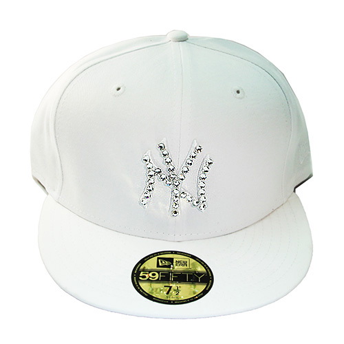 ec8f085c93f12a New Era New York Yankees Swarovski Crystal Stone Fitted Hat Jordan 4 ...