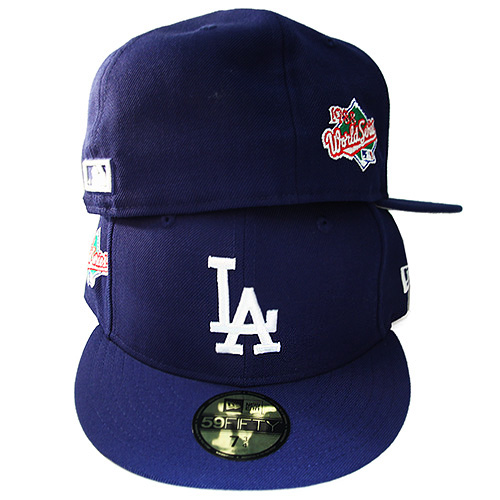 La Dodgers 59fifty New Era Fitted Hat With 1988 Worldseries Sidepatch Green Underbrim Booton