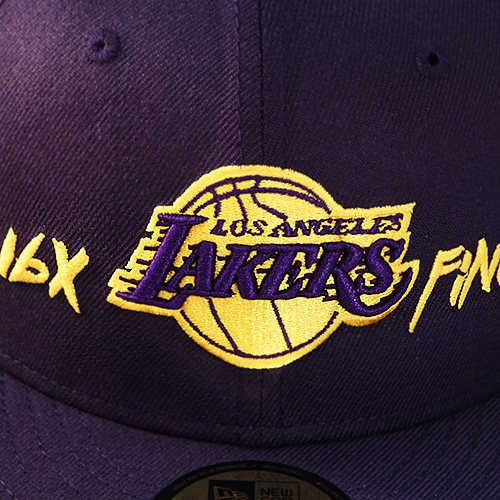 ccb4998e562c46 New Era NBA L.A Lakers 5950 Purple Fitted Hat Team Archive Logo all ...