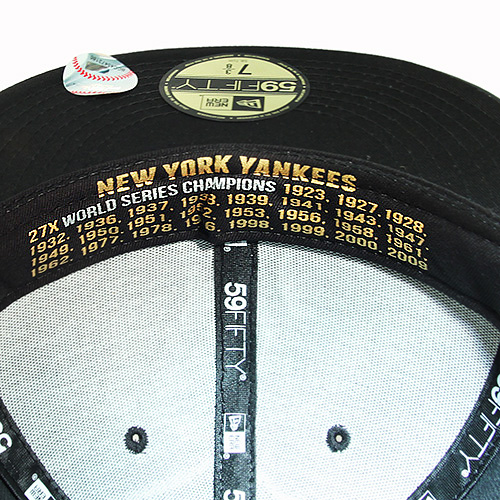 2049a79c8e3 New Era MLB New York Yankees 5950 Fitted Hat Faux Leather Black on ...