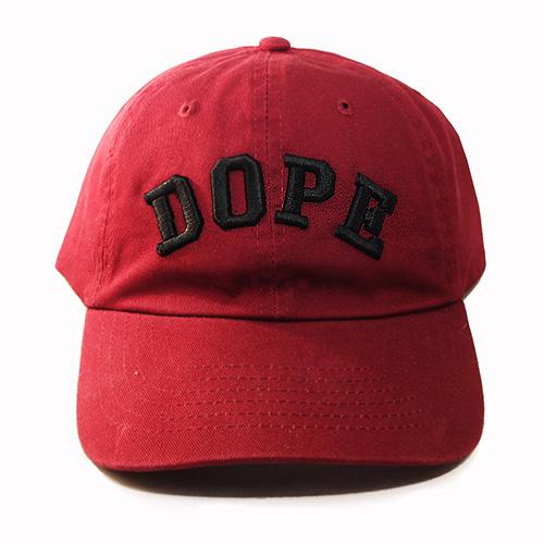 Dope Front Embroidered Dad Hat Vintage Burgundy Custom Daddy Cap