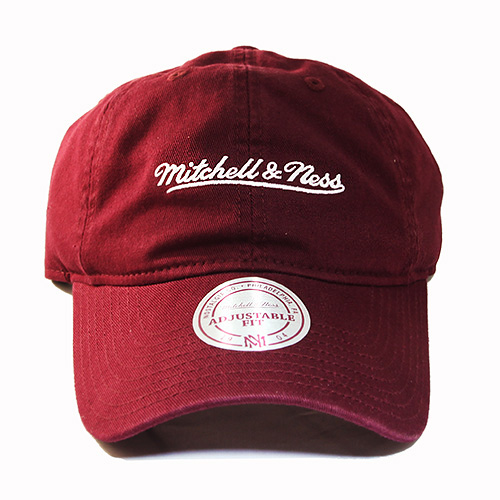 Mitchell   Ness Brand Maroon Dad Strapback Hat Match Air Jordan 12 ... ee35fad37626