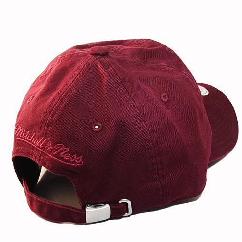 39b83e255da ... best mitchell ness brand maroon dad strapback hat match air jordan 12  0aec4 94a93
