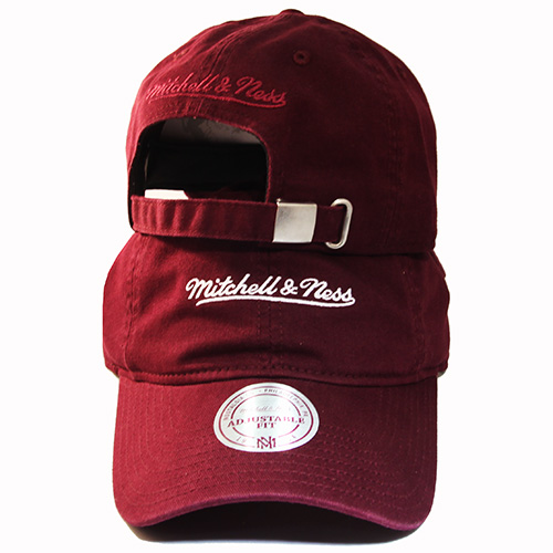 0313d2e1bd7 Mitchell & Ness Brand Maroon Dad Strapback Hat Match Air Jordan 12 ...