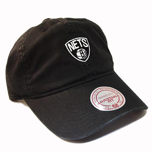 premium selection 57372 1d108 Mitchell   Ness NBA Brooklyn Nets Strapback Dad Hat Black Daddy Cap ...