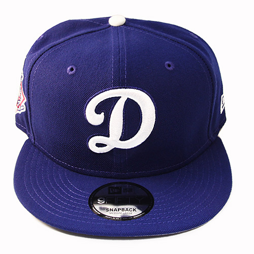 abb4371f New Era MLB Los Angeles Dodgers D Logo Snapback Hat National League Side  Patch