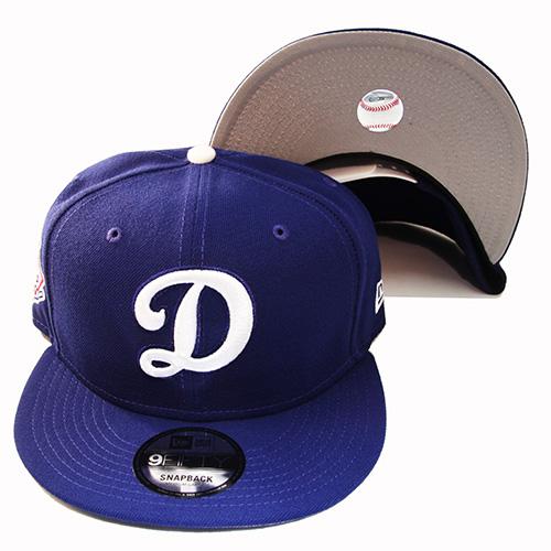 09af330485faec New Era MLB Los Angeles Dodgers D Logo Snapback Hat National League ...