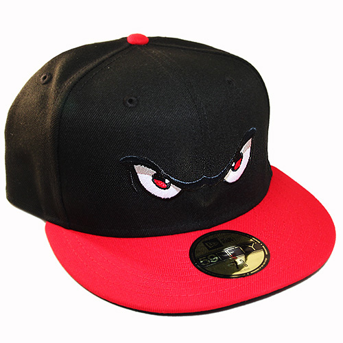 New Era Minor League Lake Elsinore Storm 5950 Black Red Fitted Hat ... cd8a68206b1