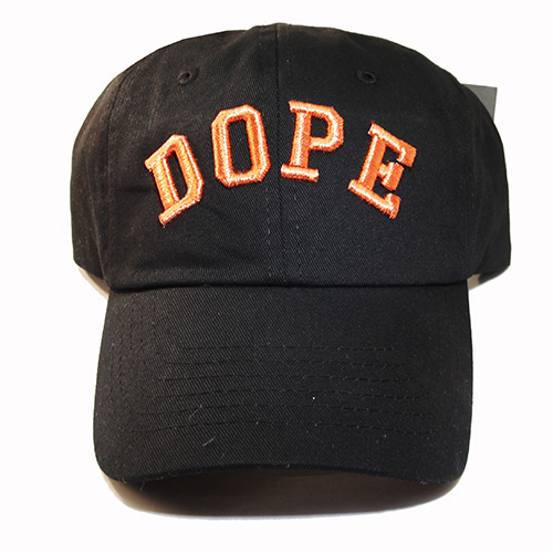 Dope Embroidered Dad Hat Black Custom Daddy Cap Match Air Foamposite One  Copper