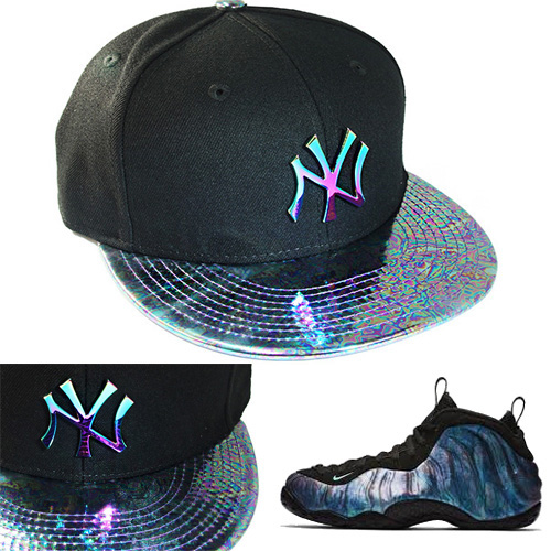 best website 841cf 3b9fd New Era New York Yankees Snapback Hat Nike Air Foamposite Abalone ...