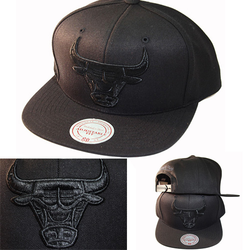 CAMO Chicago Bulls schwarz Mitchell /& Ness Snapback Cap