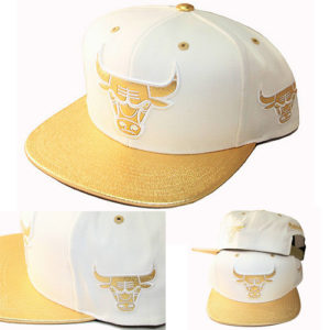 6790caebd33 Quick View · hats · Mitchell   Ness Chicago Bulls Snapback Hat White  Metallic Gold ...