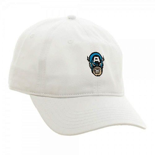 d5181925dcf Marvel Captain America Embroidered Dad Hat Cartoon Character White ...