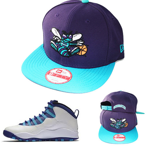43ed6cee2235b8 New Era NBA Charlotte Hornets Snapback Hat Air Jordan Retro 10 ...