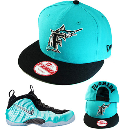 3f624049f81ac New Era MLB Florida Marlins 5950 Classic Fitted Hat Match Nike Foamposite  Island Green – booton