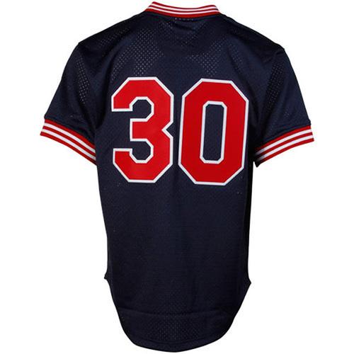 hot sales 5d415 d6b5b Mitchell & Ness Cleveland Indians Joe Carter Authentic Mesh Cooperstown  Jersey
