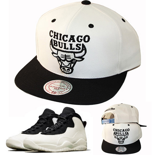 446ae49c83f ... best price mitchell ness chicago bulls snapback hat match air jordan  retro 10 106b6 292b0