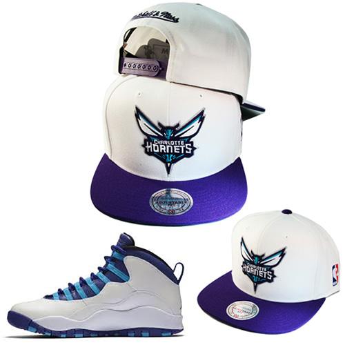 Mitchell   Ness Charlotte Hornets Snapback Hat Air Jordan Retro 10 ... 75dafa14e66