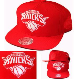61389c290f050d Quick View · hats · Mitchell   Ness NBA New York Knicks Red Snapback ...
