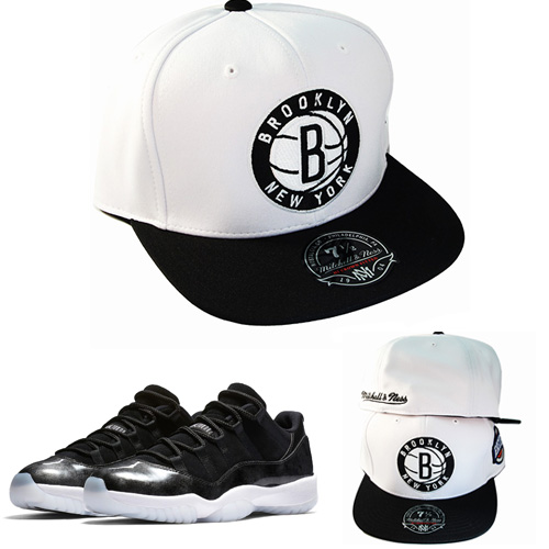 a05fc4c59316 ... where can i buy mitchell ness nba brooklyn nets fitted hat match air  jordan 11 low