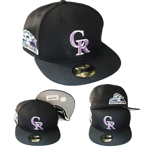 reputable site 55187 e74f0 New Era MLB Colorado Rockies 5950 Fitted Hat 1998 All Star Game Side ...