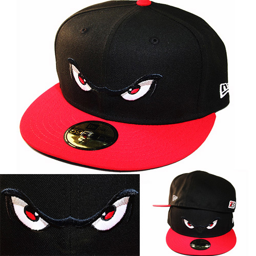 New Era Minor League Lake Elsinore Storm 5950 Black Fitted Hat Official Home Cap